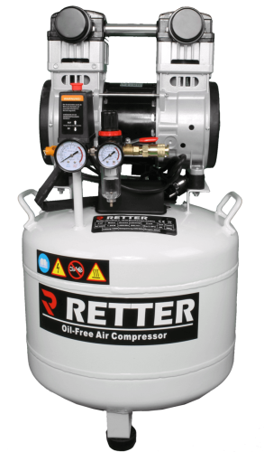 RETTER RT1045 Flüster Kompressor 45 L / 8 Bar